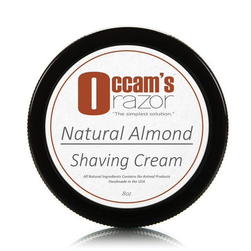 Natural Almond - 8 oz Occam's Razor Certified Organic Shave Cream-