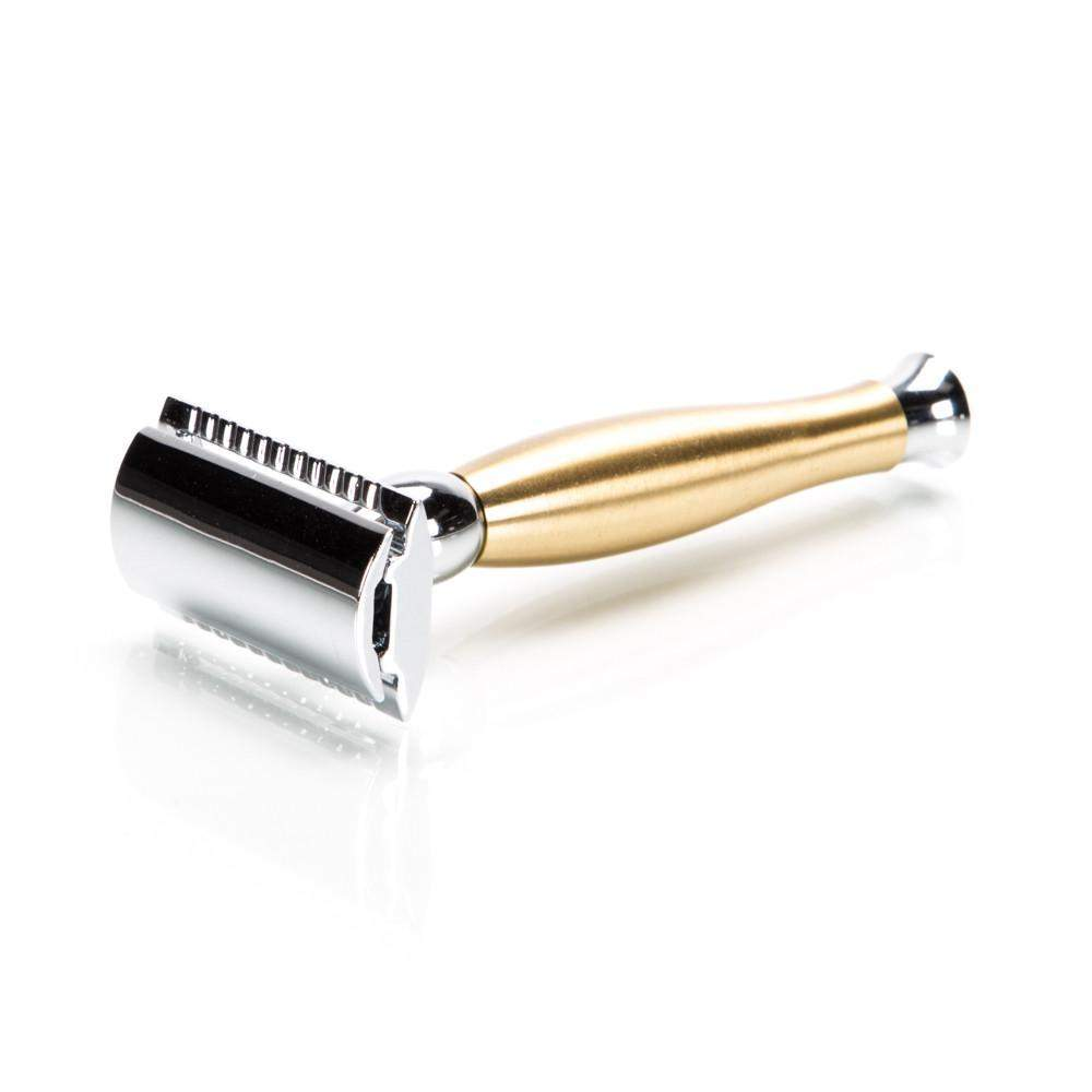 Parker 48R Chrome and Brushed Brass Safety Razor-