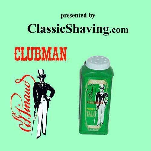 "Pinaud/Clubman ""Finest"" White Body Talc Travel Size-"