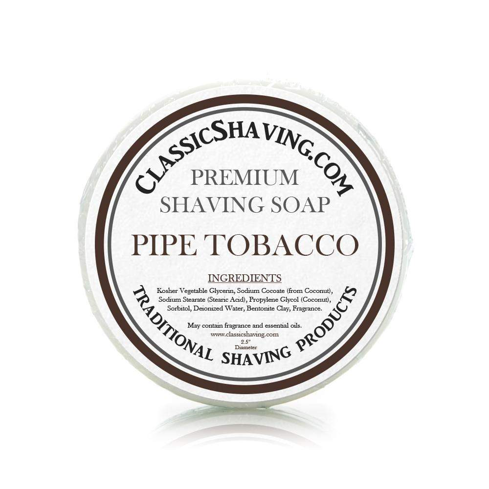 "Pipe Tobacco Scent - Classic Shaving Mug Soap - 2.5"" Regular Size-"