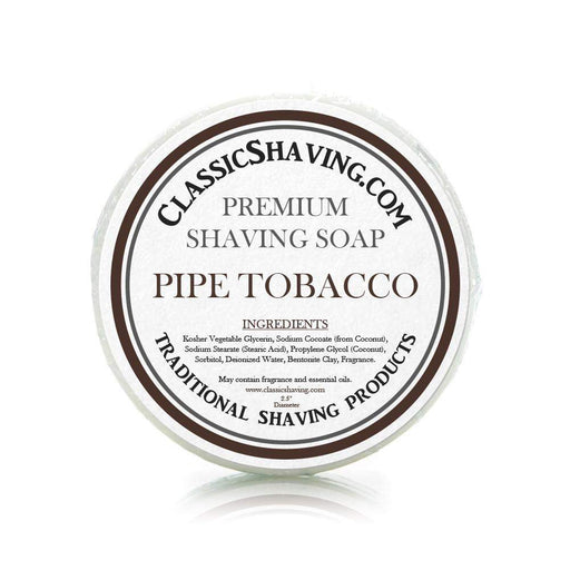 "Pipe Tobacco Scent - Classic Shaving Mug Soap - 2.5"" Scuttle-"
