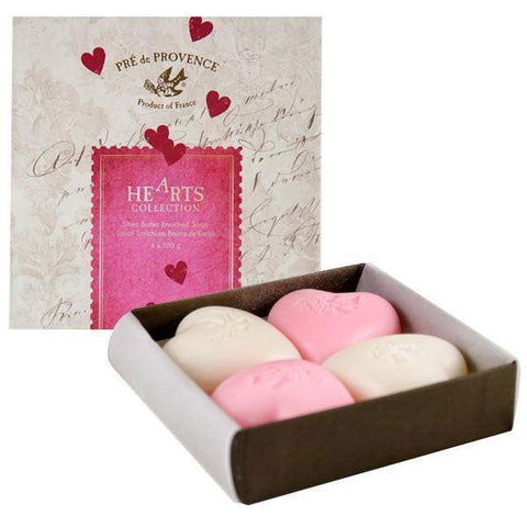 "Pre de Provence ""Hearts Collection"" Guest Soaps 25 g each-"