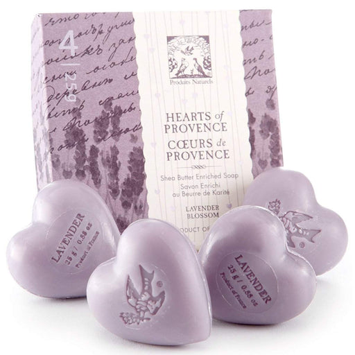 "Pre de Provence ""Lavender Hearts Collection"" Guest Soaps 25 g each-"