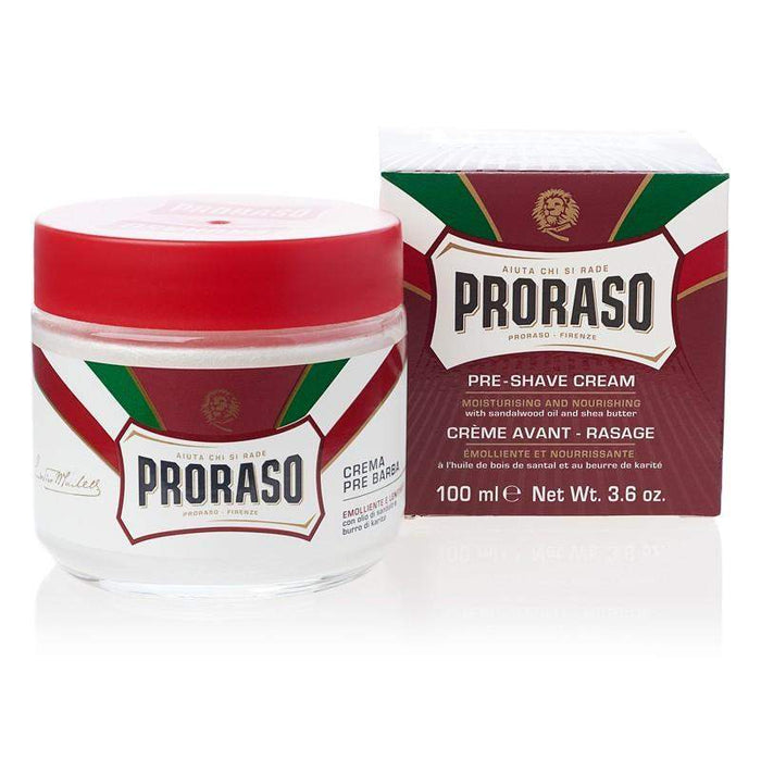 "Proraso Pre Shave Cream-""Red"" Mousturizing & Nourishing"