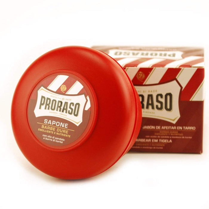 "Proraso Shaving Cream - Bowl-""Red"" Sandalwood & Shea Butter"