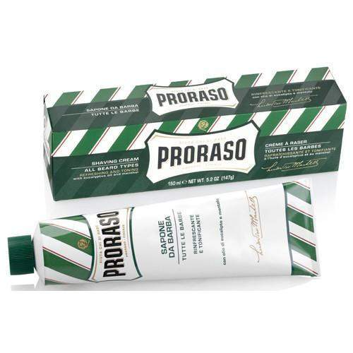 "Proraso Shaving Cream Tube (red, green or blue)-""Green"" Original Eucalyptus & Menthol"