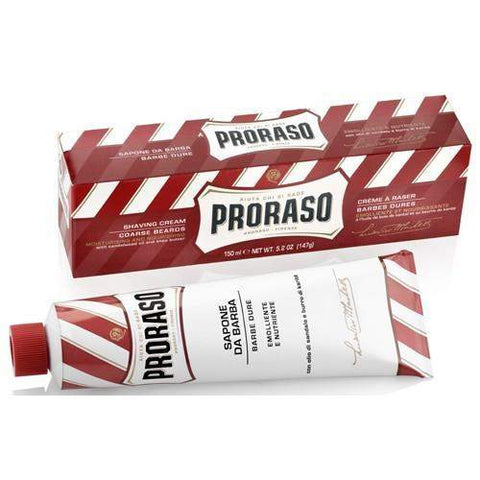 "Proraso Shaving Cream Tube (red, green or blue)-""Red"" Sandalwood & Shea Butter"