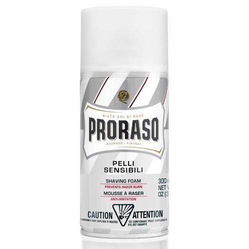"Proraso Shaving Foam - Can-""White"" Sensitive Skin w/ Green Tea & Oatmeal"
