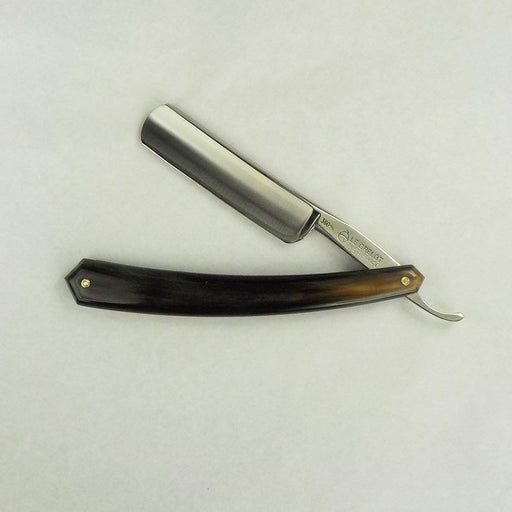 Refurbished 6/8 Thiers-Issard Grelot Razor (w/ Striated dark Horn Scales)-