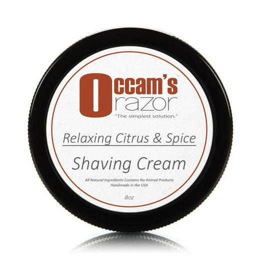 Relaxing Citrus & Spice - 8 oz Occam's Razor Certified Organic Shave Cream-