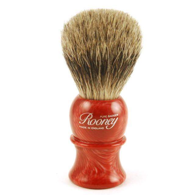 "Rooney Shaving Brush Style 3 Small ""Pure Badger"" - Faux Coral-"