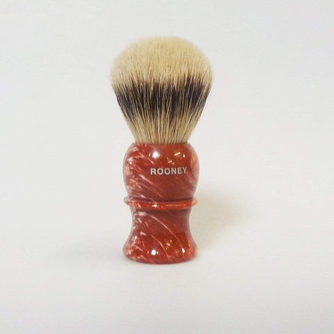 "Rooney Shaving Brush Style 3 Small ""Super Badger"" - Faux Coral-"
