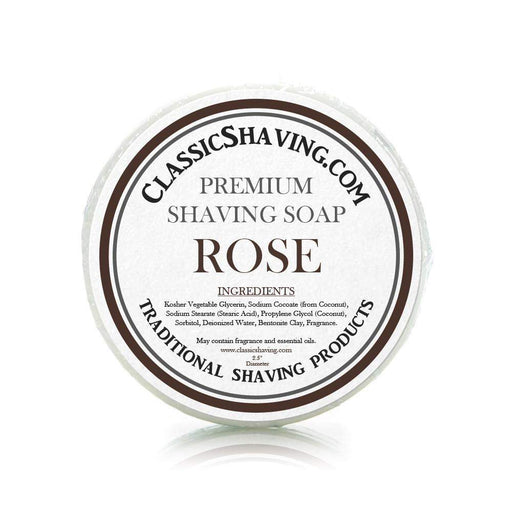 "Rose Scent - Classic Shaving Mug Soap - 2.5"" Regular Size-"