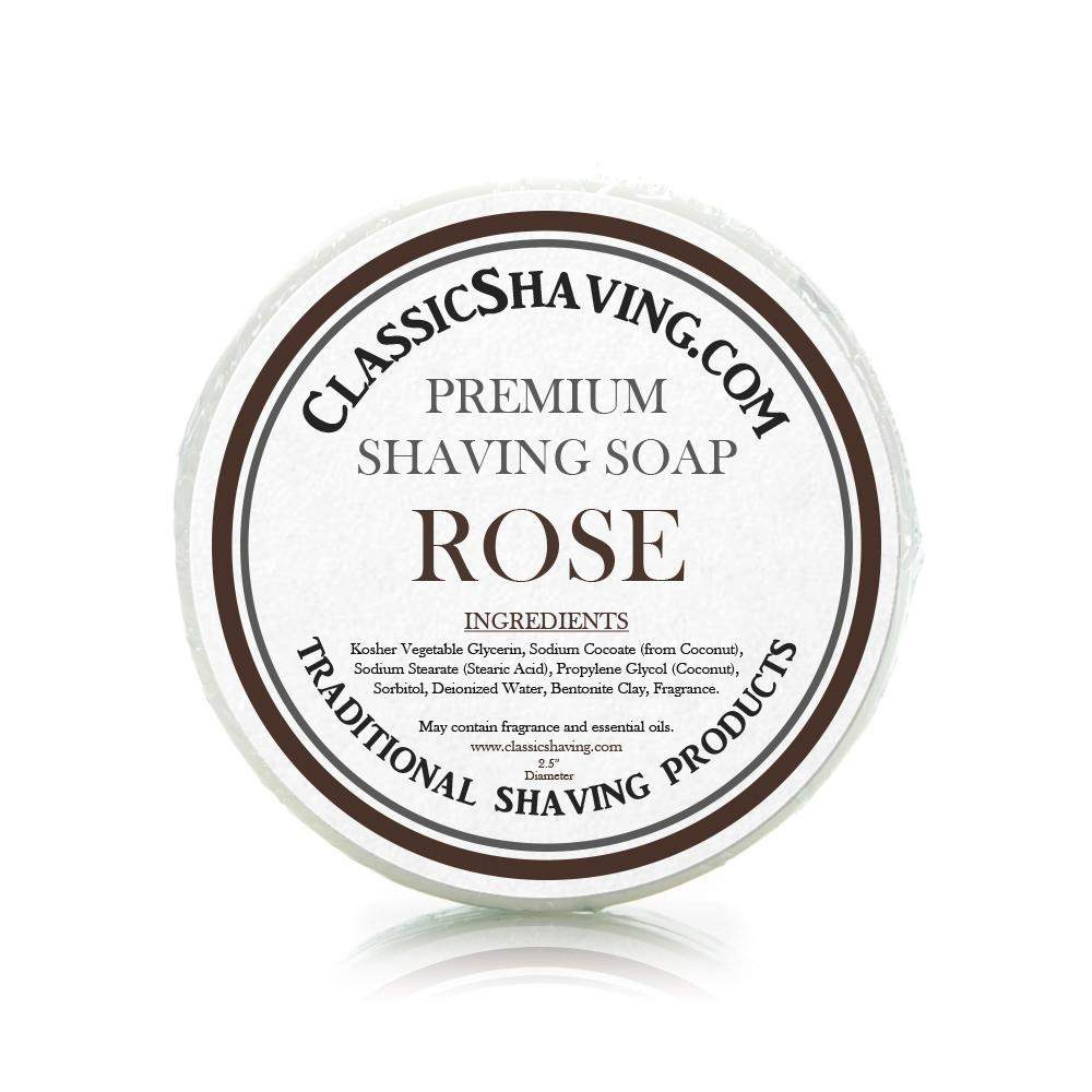 "Rose Scent - Classic Shaving Mug Soap - 2.5"" Scuttle-"