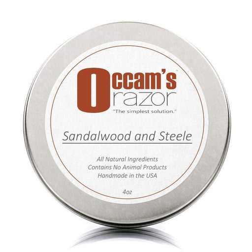 "Sandalwood & Steele - 4 oz Occam's Razor 3"" Shave Soap-"