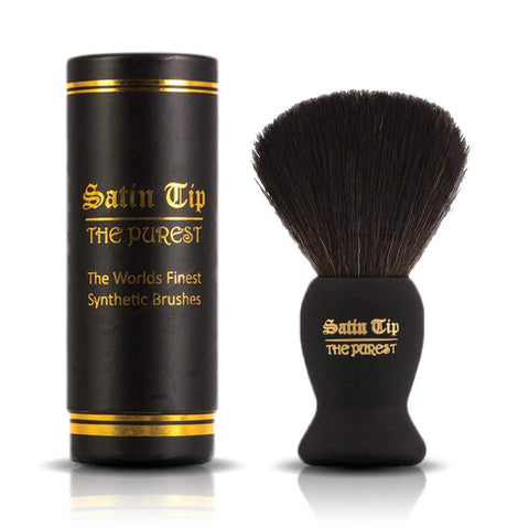 Satin Tip - The Purest - Luxury Synthetic Shaving Brush Black-