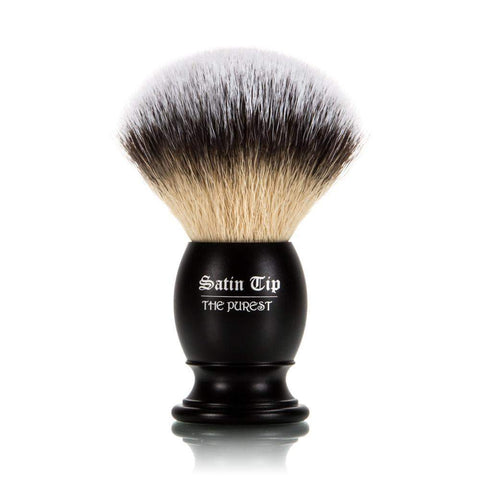 Satin Tip - The Purest - Metal Handle Luxury Synthetic Shaving Brush - Frosted Tips-