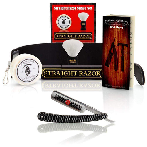 Shave Ready - Gold Dollar Straight Razor With Premium Shave Kit-