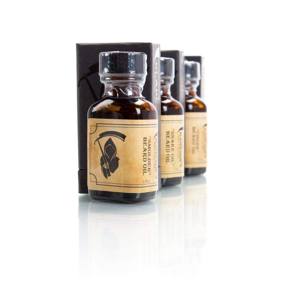 Smolder, Cinder & Snake Oil 3 Pack Beard Oil - The Blades Grim-