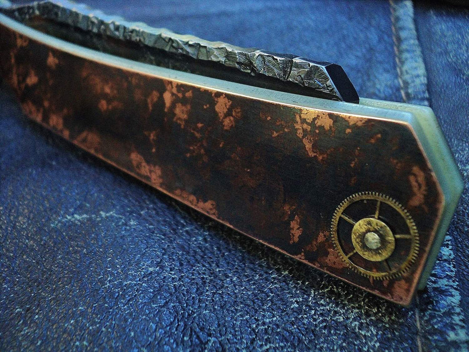 SOLD-Dylan Farnham #30 Steam Punk Straight Razor-