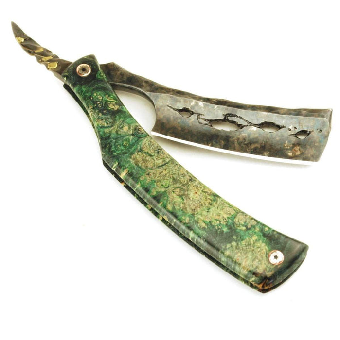 "SOLD-Dylan Farnham #49, Custom Straight Razor , the ""Lucky Cheshire""-"