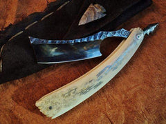 SOLD-Dylan Farnham Straight Razor #58, with custom sheath-