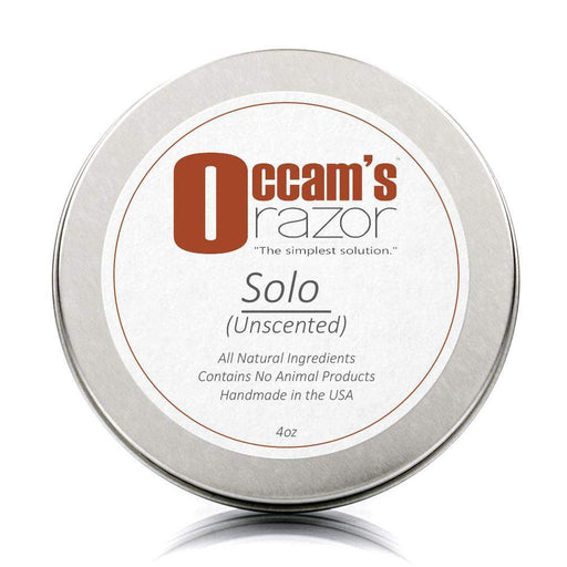 "Solo (Unscented) - 4 oz Occam's Razor 3"" Shave Soap-"