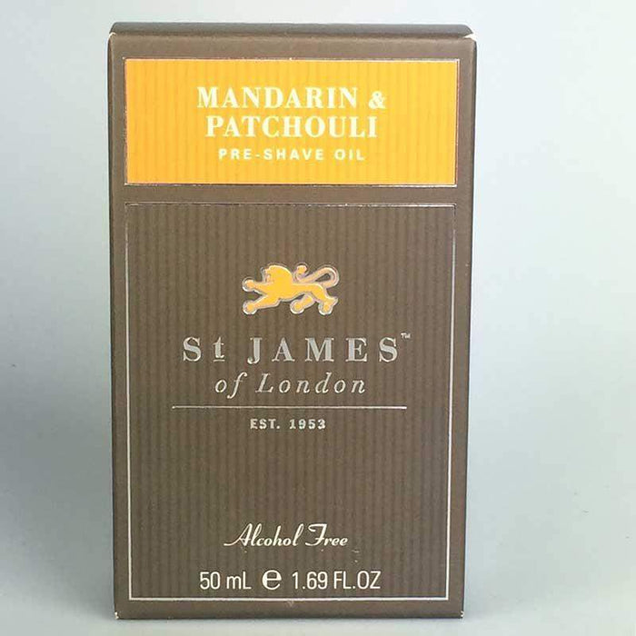 St James of London Pre-Shave Oil -Mandarin & Patchouli-
