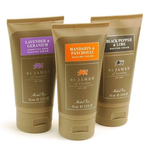 St. James of London Shaving Cream Travel Tube - 2.5 oz.-Mandarin & Patchouli