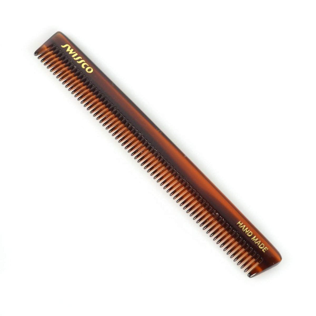 Swissco Tortoise Fine-Tooth Moustache and Beard Comb 4.75 inch-