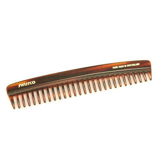 Swissco Tortoise Pocket Comb Wide Tooth 6.25 inch-