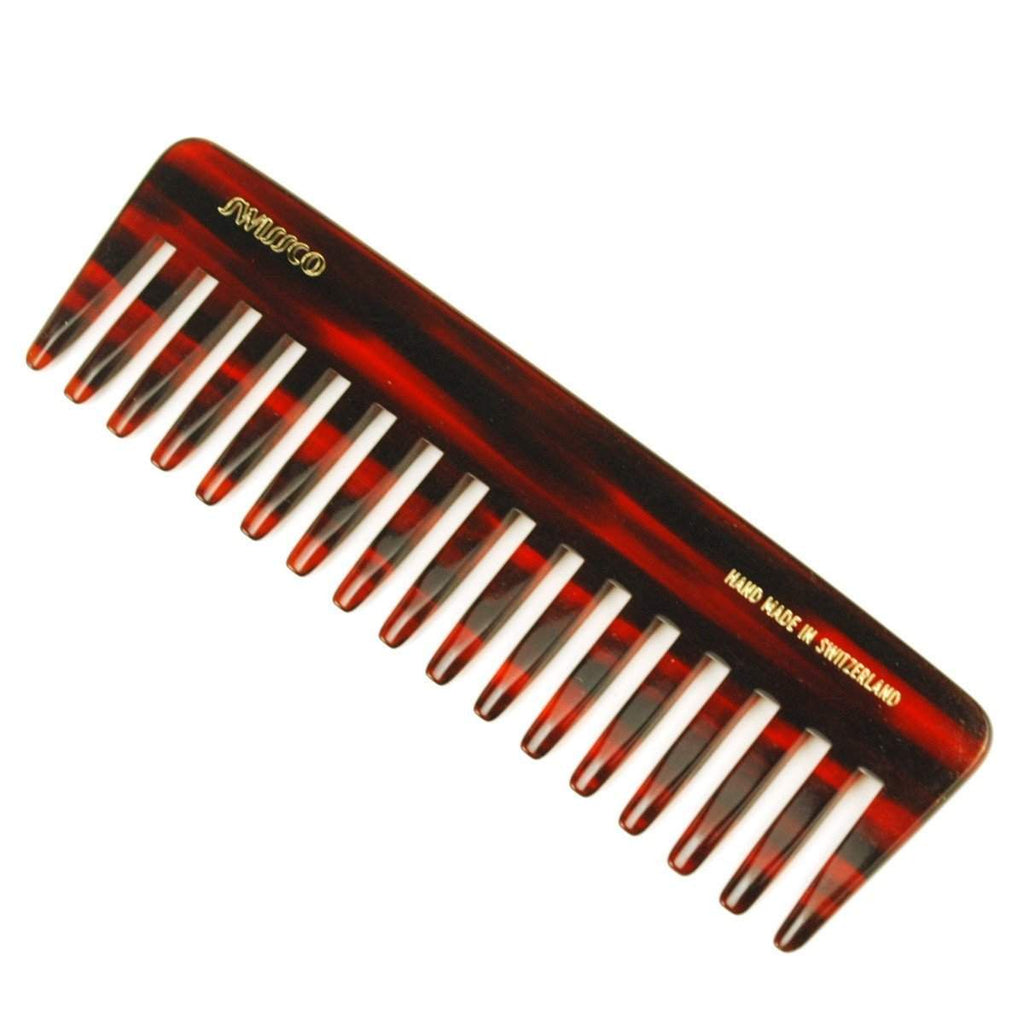 Swissco Tortoise Wide-Tooth Purse Comb 5.75 inch-
