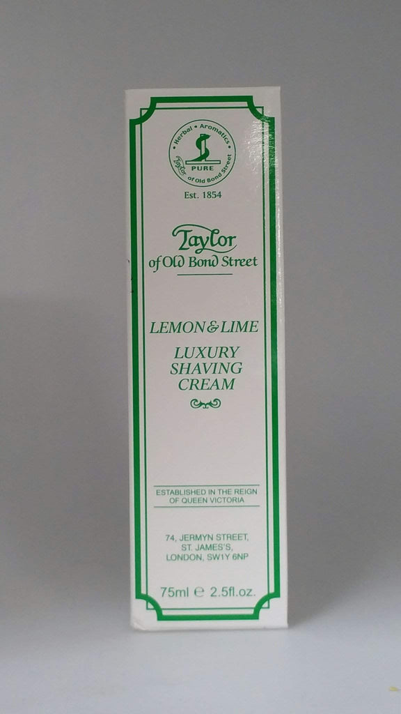 Taylor of Old Bond Street Shaving Cream 2.5 oz Tube-Lemon & Lime
