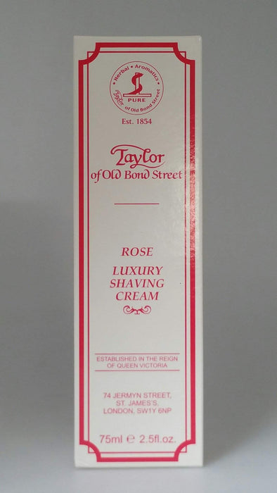 Taylor of Old Bond Street Shaving Cream 2.5 oz Tube-Rose