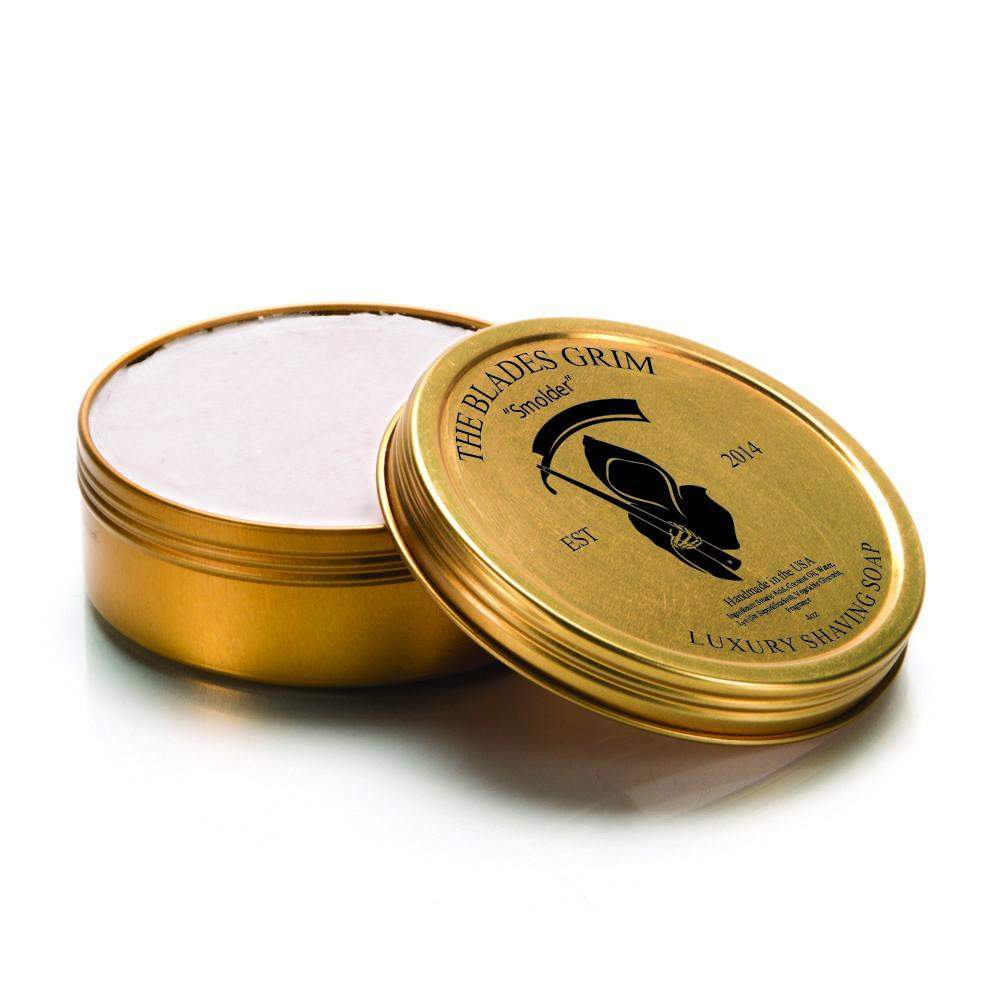 "The Blades Grim Gold Luxury Shaving Soap - ""Smolder""-"