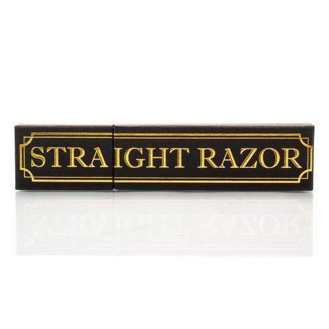 "The Grim Dollar - 6/8"" Round Point Classic Straight Razor-"