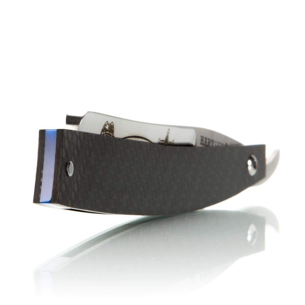 Thin Blue Line - 6/8 Straight Razor By Hart Steel-