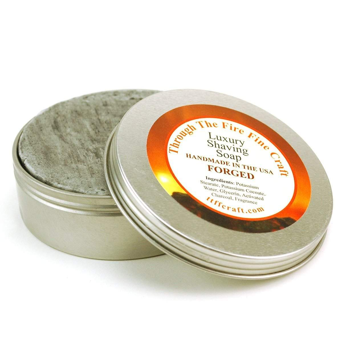 Through the Fire Luxury Shaving Soap in Reusable Tin - available in 6 scents-