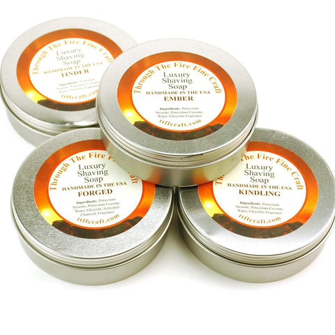 Through the Fire Luxury Shaving Soap in Reusable Tin - available in 6 scents-Ignite