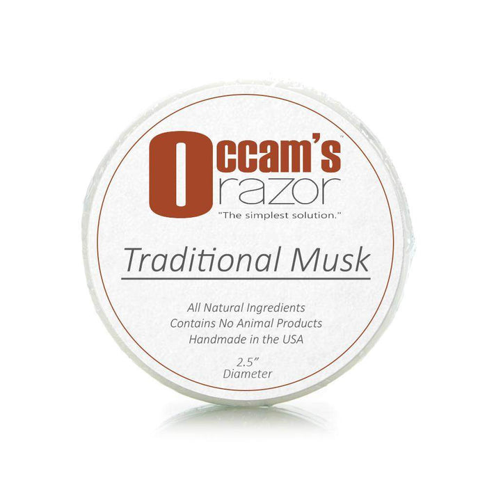 "Traditional Musk - Occam's Razor 2.5"" Mug Shave Soap-"