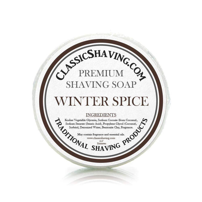 "Winter Spice Scent - Classic Shaving Mug Soap - 2.5"" Regular Size-"