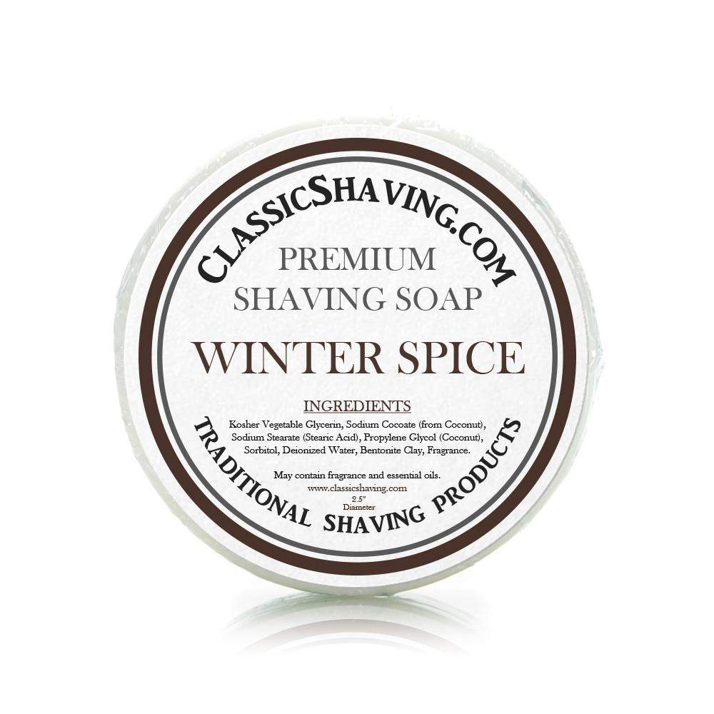"Winter Spice Scent - Classic Shaving Mug Soap - 2.5"" Scuttle-"