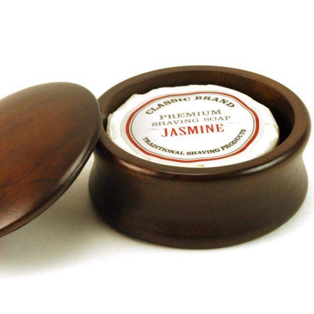 Wood Covered Shave Bowl & Soap (choose your scent, add engraving)-