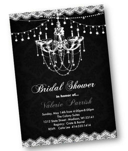 Chandelier Bridal Shower Invitation Flyer - Bridal Shower Invitation
