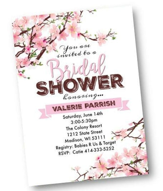 Cherry Blossom Bridal Shower Invitation - Bridal Shower Invitation