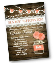 Fall Rustic Mason Jar Baby Shower Invitation Flyer - Baby Shower Invitation