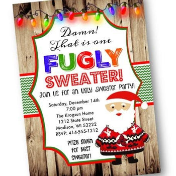 Fugly Sweater Christmas Holiday Party Invitation Flyer - Holiday Invitation