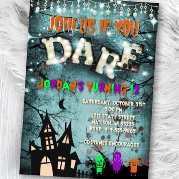 Halloween Birthday Invitation Kids Costume Spooktacular Halloween Monsters Birthday Party Invitation Flyer - Holiday Invitation