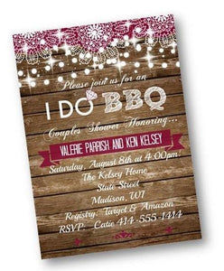 I Do BBQ Rustic Bridal Shower Invitation Flyer - Bridal Shower Invitation