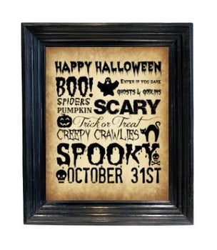 INSTANT DOWNLOAD - Halloween Subway Art - Vintage Wall Art - Holiday